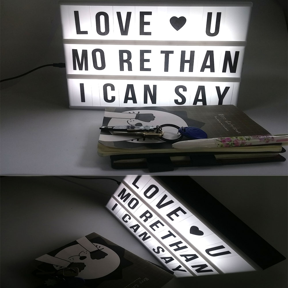 Cinema Lightbox with lightbox letters 85 light box for Home Decor board of marquee light box