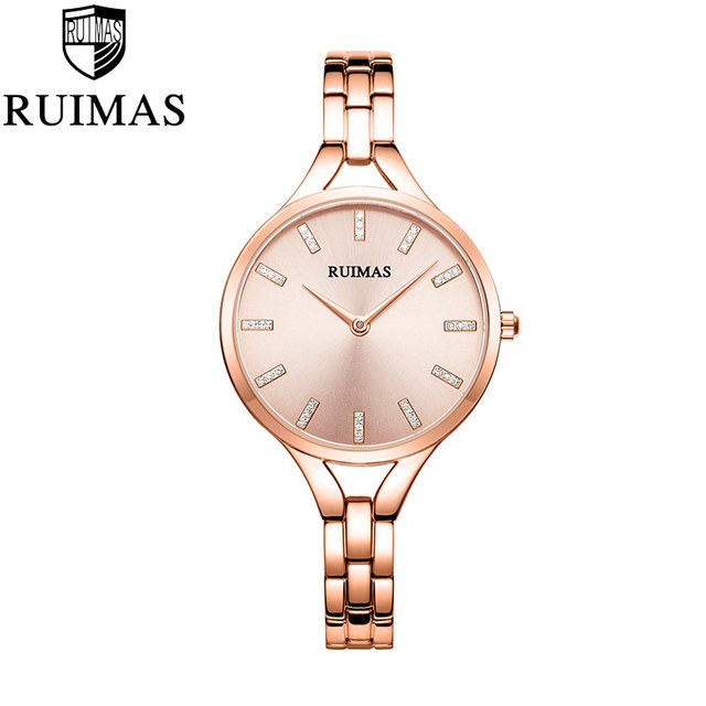 Ruimas Ladies Elegant Wrist Watch Rose Gold