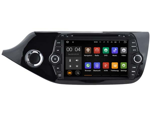 Android 7.1.1 2GB 1024*600 car DVD player for Kia Ceed 2013 2014 gps navi radio audio stereo headunits multimedia tape recorder