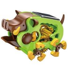 Стебель Обучающие Tecnologia игрушки для детей научный эксперимент технология солнечная горячая игрушка свинья DIY стебель игрушки для детей головоломка