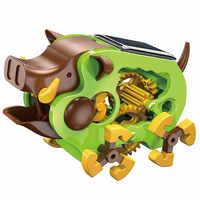 Stem educacional tecnologia tecnologia tecnologia de experimento ciência brinquedos para crianças brinquedo solar porco quente diy caule brinquedos para crianças quebra-cabeça