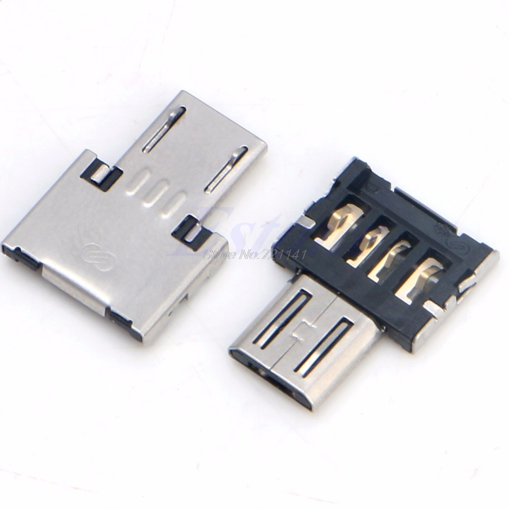 2Pcs USB Micro Male To USB Female OTG Adapter Converter For Phone Android Tablet Electronics Stocks