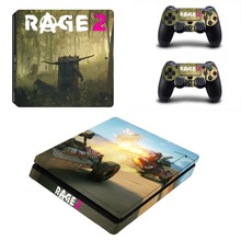 Game Rage 2 PS4 Slim Skin Sticker Decal For Sony PlayStation 4 Console and 2 Controllers PS4 Slim Skins Stickers Vinyl