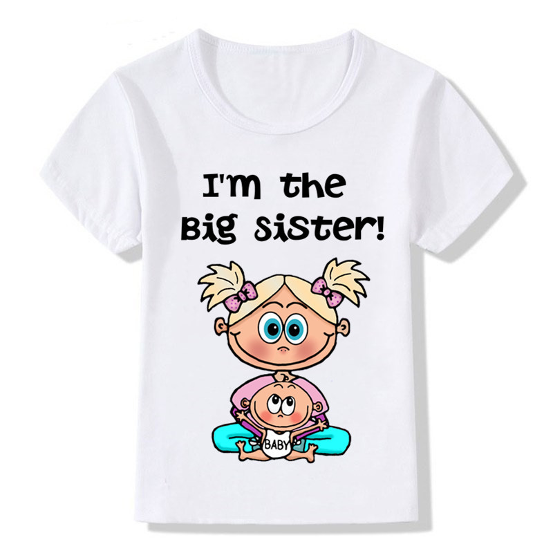 I/'m the Big Sister T-Shirt Top Tee Childrens Kids Toddler Sizes New