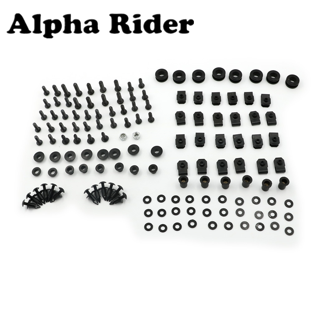 Fairing Bolts Nuts Fastener Clips Screws Black Stainless Steel Bolts For Yamaha R6 YZF-R6 98-02 08-14 06-07 03-05 High Grade New