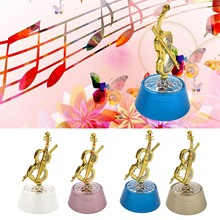 Bevigac Portable Violin Shape Music Box Relax Projection Lamp Projection Romantic Night Light for Kid Adult