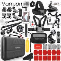 Vamson dla Gopro Hero 8 7 czarny/6/5/4 zestaw akcesoriów dla DJI OSMO Action dla go pro/xiaomi yi/wodoodporny futerał VS87