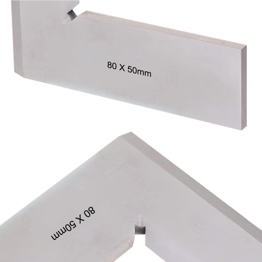 цена на New 80*50mm Angle Square Broadside Knife-Shaped 90 Degree Angle Blade Ruler Gauge Blade Measuring Tool