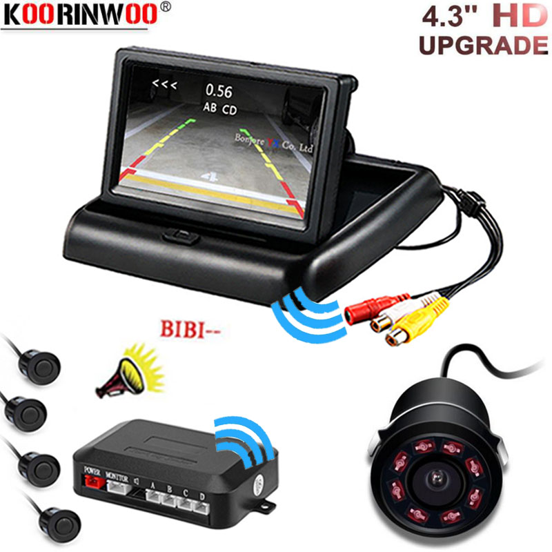 Koorinwoo Dual Core CPU Car Parking Sensor Reversing Radar System Assist Connect HD Car 4 3