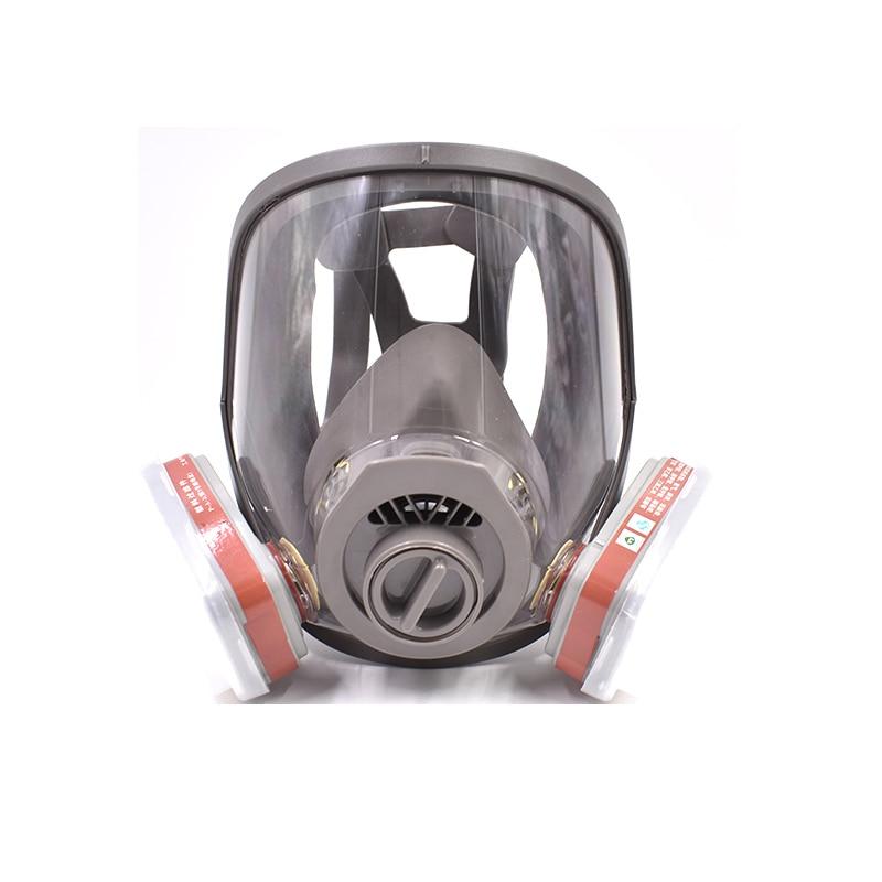 Gas Mask Full Facepiece Cartridge Respirator Breathing N95 Mask Breathing Apparatus Respirators for Painting,Mining,Sparying 3m 6300 6003 half facepiece reusable respirator organic mask acid face mask organic vapor acid gas respirator lt091