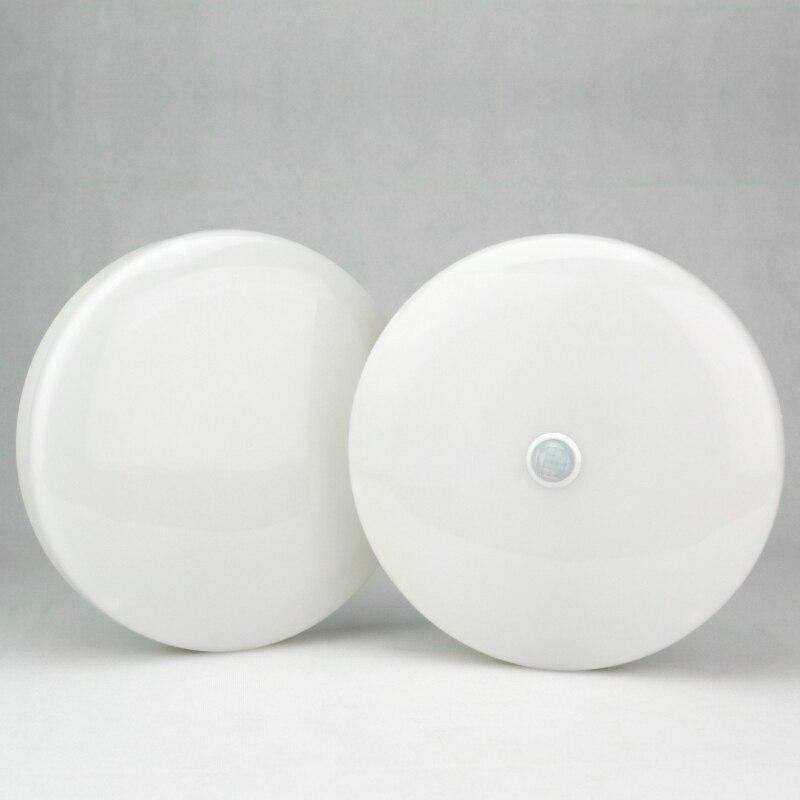 LATTUSO Led-deckenleuchte AC 110 V 220 V PIR Motion Sensor Lampe Oberfläche Montiert Auto Smart Klingt Steuer 8 w 18 w Runde Panel Licht