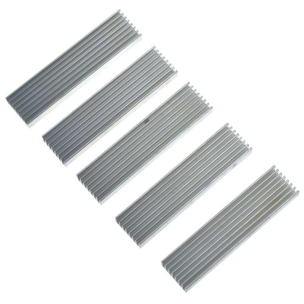 100*25*10mm Aluminum Chip Heat Sink Heatsink Cooling for IC LED Power Transistor 5pcs цена