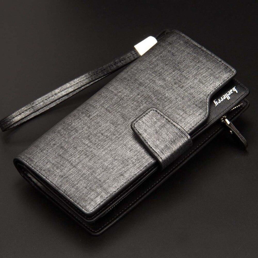 Korthållare Läder plånbok män Lång design Kvalitet pass täcka - Plånböcker - Foto 6