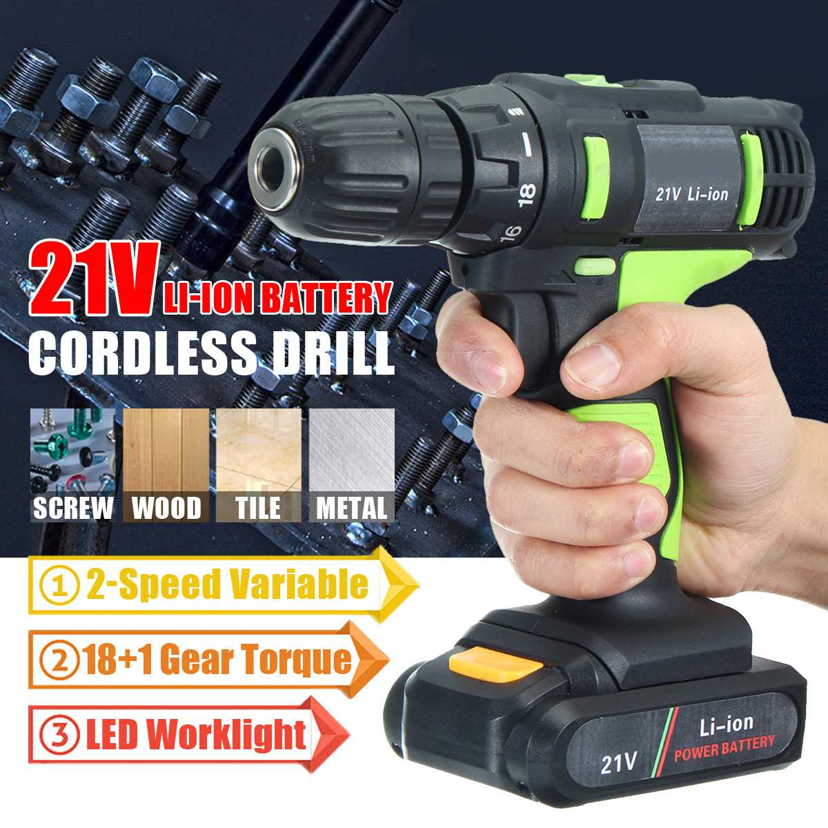 21V Screwdriver Cordless Drill Household Electric Mini 0-450 0-1450r/min 1 Lithium Battery Charger21V Screwdriver Cordless Drill Household Electric Mini 0-450 0-1450r/min 1 Lithium Battery Charger