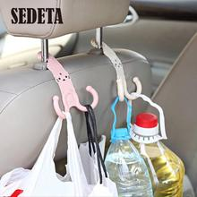 Cute Headrest Hook Car Seat Hanger Cartoon Design Plastic Hanger Organizer Bag Cute Parts Accessories(China (Mainland))