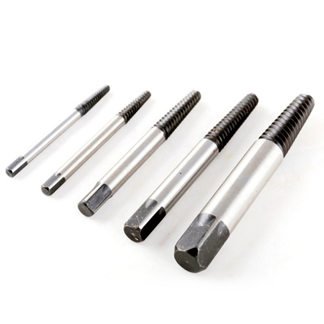 Broken Speed Out Damaged Screw Extractor 5pcs carbon steel 3-18mm Drill Bit Guide Set broken screw extractor moving