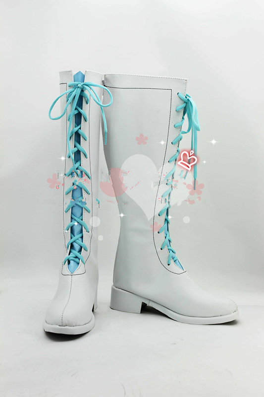 Anime Love Live Wonderful Rush blue white boots cosplay shoes