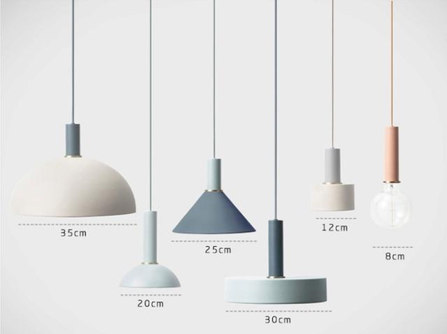 Nordic Colored Pendant Light