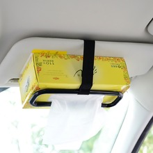 Universal Car Sun Visor Seat Tissue Box Mount Holder Auto Convenient Interior Container Paper Towel Tape Decorative Accessory