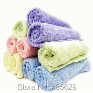 Free Shipping,32g Square Bamboo Fiber Bath Towel,Eco-friendly 26cm*26cm,anti-bacterial Bamboo Towel,Sent Randomly, Square Towel