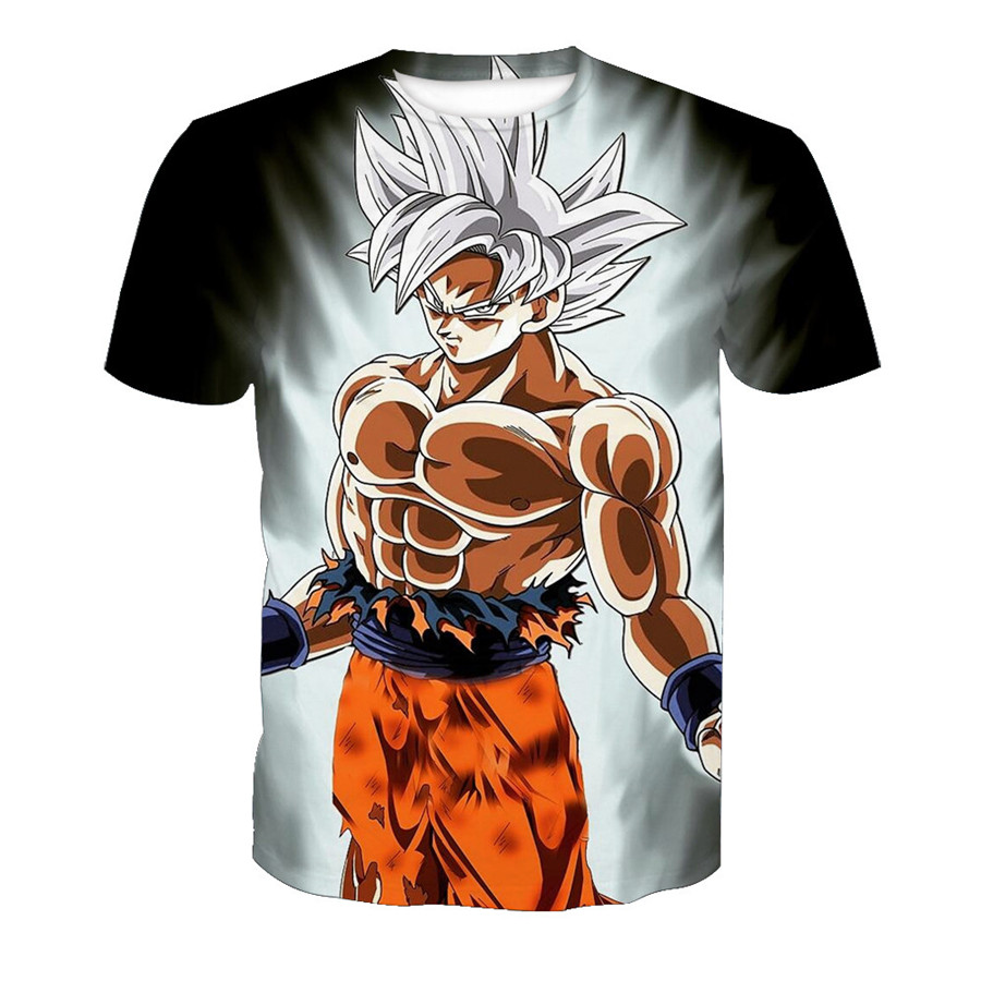 New Arrival Funny Kakarotto 3d Summer Hipster Short Sleeve GoKu Tee Tops Men/Women Anime Dragon Ball Z Homme