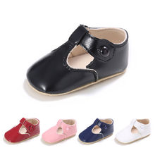 Fashion Cute Baby Girls Toddler Infant  PU Leather Princess Party Shoes 0-18M