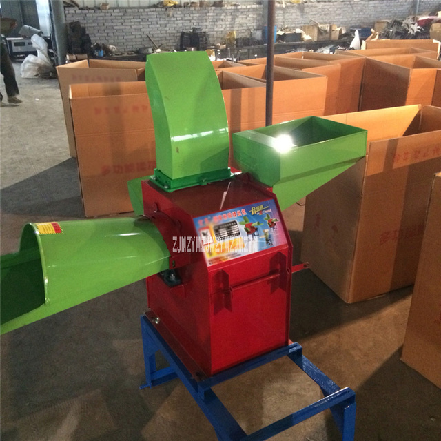 New Type 650 Forage Crop Crusher 3-disk Agricultural Feed Processing Straw/Silage Hay/Chaff Cutter 220V/380V 2.2KW 2800 rev/min