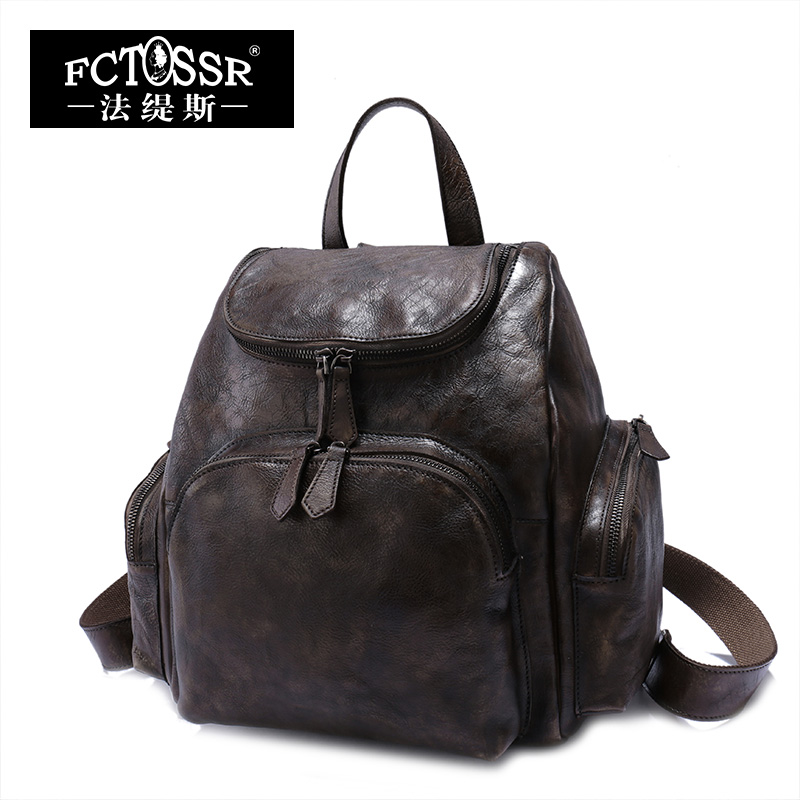 Women Bags 2017 Original Vintage Genuine Leather Leisure Bag Female Soft Cow Leather Backpack Top Handle Bag Rucksack 2017 genuine leather vintage travel backpack cow leather brush color women bags cow leather backpack top handle bags