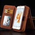 Caja del teléfono bolsa de la carpeta para iphone 5 5s se 6 6 s 6g 6 Más 6 S Más Multi-función de Espejo Duro de La Contraportada de Cuero Titular de la Tarjeta