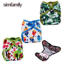 Simfamily 3Pcs Reusable Washable Waterproof Diacover Cover For 3 36 Month And 3 15Kgs Baby