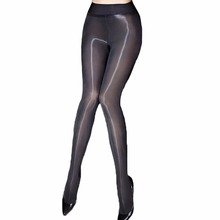 Sexy Oil Shiny Pantyhose Women Sheer Tights Smoothly Fabric Hosiery Fantaisie See Through Strumpfhose Gloss Collant