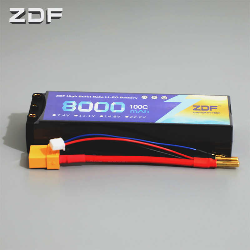 ZDF Baterai Lipo 3.7 V 7.4 V 11.1 V 14.8 V 22.2 V 2 S 3 S 4 S 6 S 8000 MAh 6 S 100C 200C untuk RC Helicopter Pesawat Mobil Perahu Drone