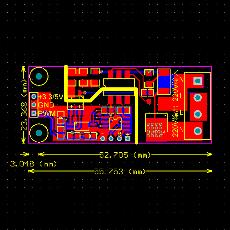 modulo de isolamento do tiristor controlador 04