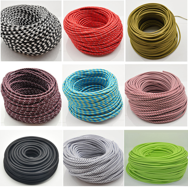 2*0.75mm Edison Textile Cable Fabric Wire Chandelier Pendant Lamp ...
