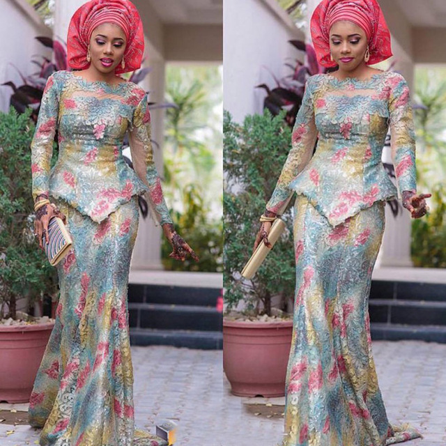 38b25798796 Hitarget 2017 New Women African Lace Clothing Sets Dashiki Fashion  traditional lace clothes top+Skirt african Lace dress WY1555