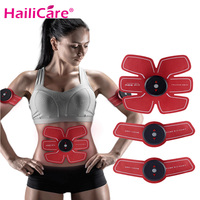 EMS Abdominal Muscle Training Stimulator Gear Device Body Massager Arm Body Toning Belt Weight Loss Slimming Massager