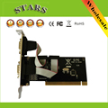 Новый KCB 2 Порта PCI для COM 9-контактный Последовательный Порт RS232 V24 Card Адаптер Поддержка FIFO 16C550, Оптовая Бесплатный доставка Dropshipping