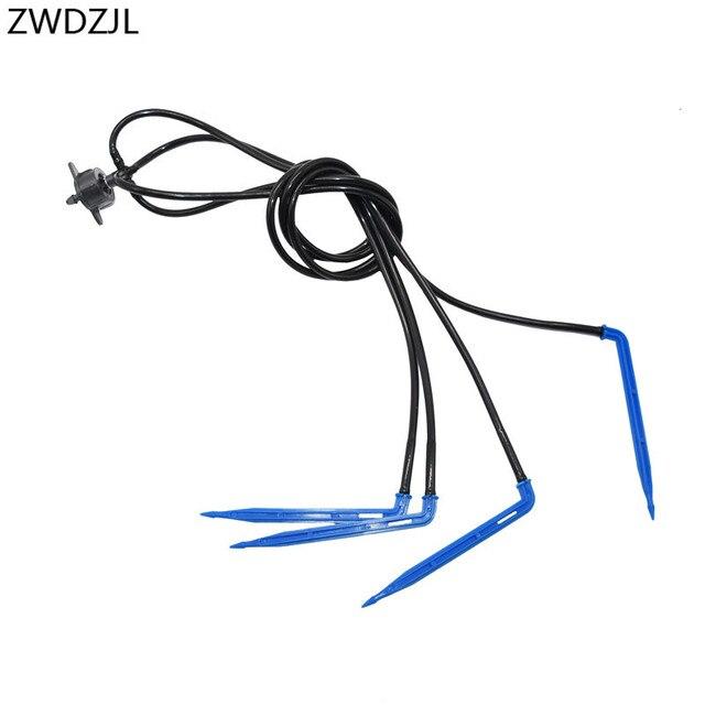 Kas 4 manier pijl drip 4L 8L Dripper emitter micro drip irrigatie systeem water drop tuin 1 set