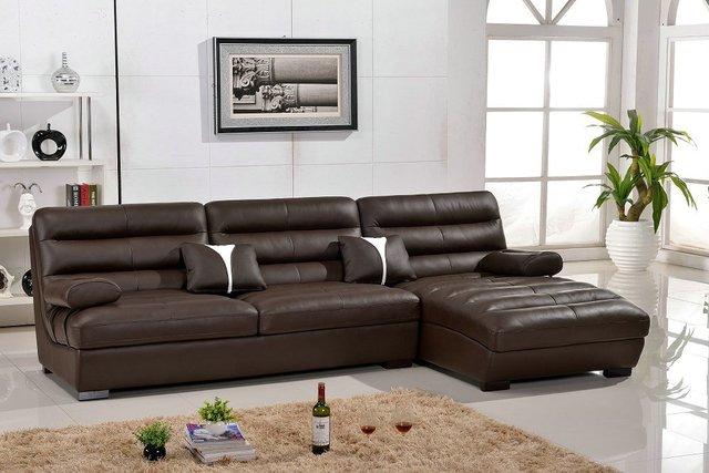Lizz Furniture Leather Curve Sofa Corner L Shape Special Design