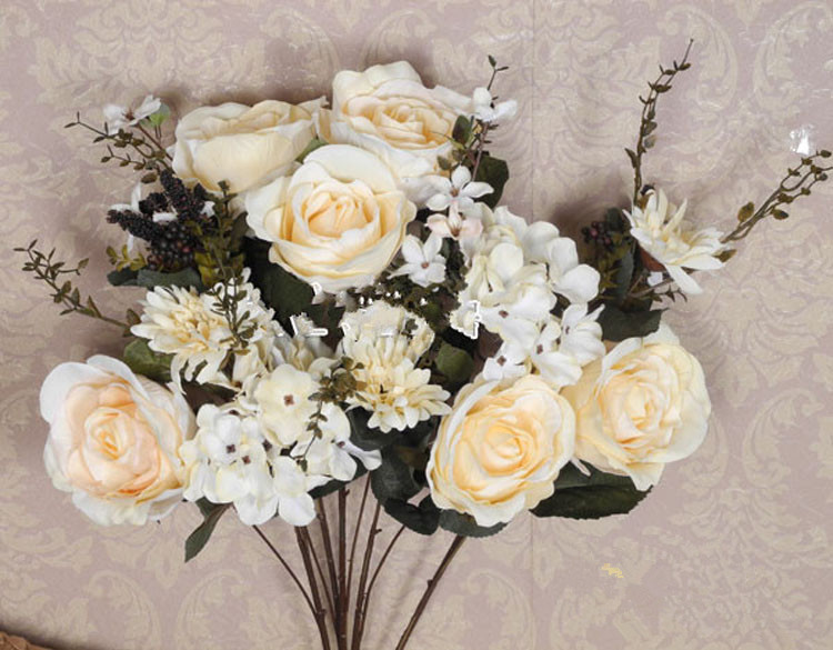 Artificial Flowers Royal rose floral fashion artificial ...