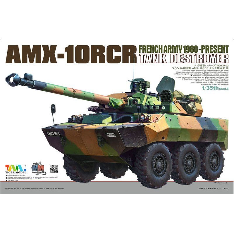 Tiger Model 4602 1/35 French AMX 10RCR Tank Destroyer   Scale Model Kit-in Model Building Kits from Toys & Hobbies    1