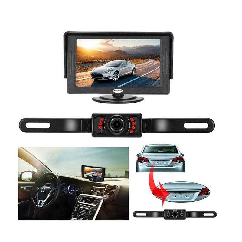 Image 5 - 7 Инфракрасная подсветка Автоматическое реверсирование Дисплей Системы 4,3 дюймов ЖК дисплей монитор Авто Дисплей IP67 парковка Камера с монитором-in Мониторы для авто from Автомобили и мотоциклы