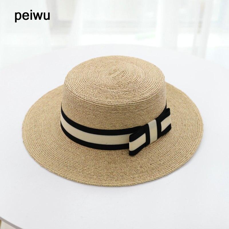 2018 Fashion Raffia Straw Hat for Women Summer Beach Hats for Ladies Top Quality  sun Hats 8c31f48513d