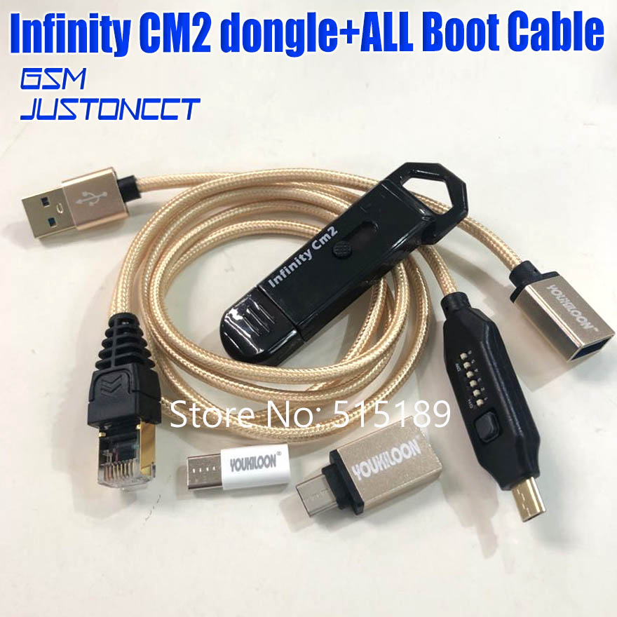 2019 original new infinity cm2 dongle infinity box dongle + umf all in one boot cable  for GSM CDMA phones