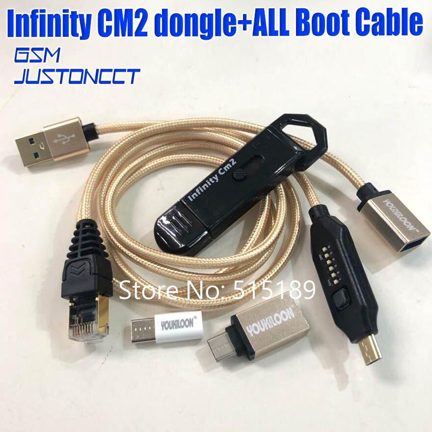 2019 original novo infinito cm2 infinity box dongle dongle + umf tudo em um cabo de inicialização para telefones GSM CDMA