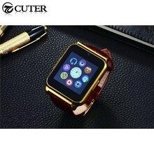 Bluetooth Smart Uhr Luxus Leder Smartwatch Business Armbanduhr Full View HD Bildschirm Für Android IOS Telefon freies verschiffen