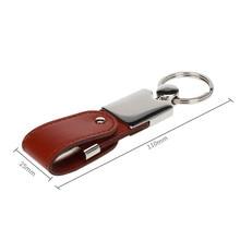 full capacity USB flash memory leather usb 2.0 4GB 8GB pendrive 16GB 32GB 64GB key holder Pendrive 128gb stick free shipping