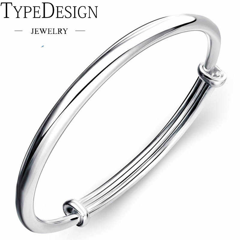silver 999 bracelet for Women Fashion Round Bangle Bracelet Femme Wristband Beleklik jewelry adjustable bangle anillos silver