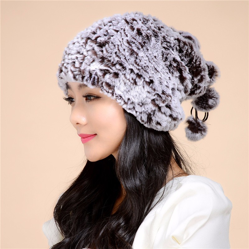 2017autumn and winter new Rex fur grass lady hat warm winter hat and scarf dual thick wool hat/ 6 colorTM11 skullies 2017 new arrival hedging hat female autumn and winter days wool cap influx of men and women scarf scarf hat 1866729