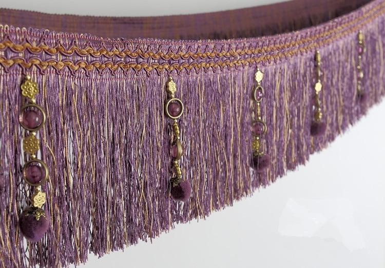 XWL 12 Yards / Lot Curtain Lace Tilbehør Pompon Perler Lace Tassel - Kunst, håndverk og sying - Bilde 4